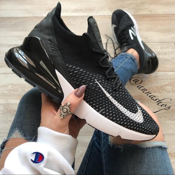 innovative design 11396 6faf3 NWT Nike Air Max 270 Flyknit Black